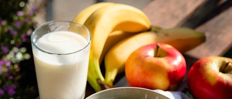 молоко и бананы